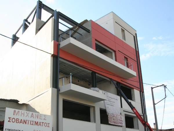 ADDITION OF 3 STORIES TO AN EXISTING SINGLE-STORY BUILDING IN GAZI, ATHENS